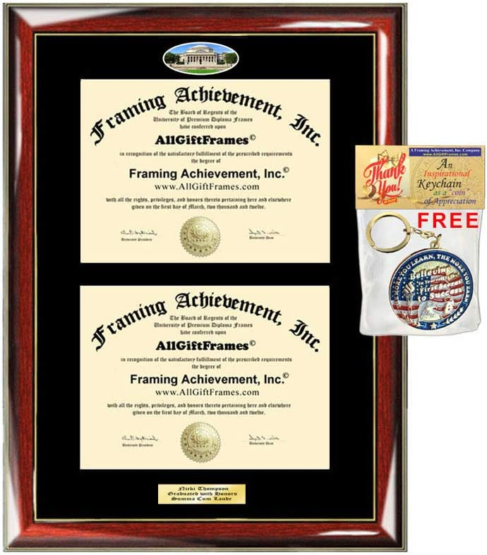 Double Diploma Frame Columbia Courier shipping free shipping Campus University Graduation Photo Discount mail order