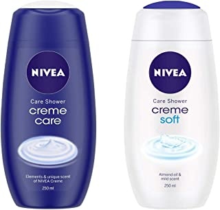 NIVEA Shower Cream, Creme Care, 250ml and NIVEA Shower Cream, Creme Soft, 250ml