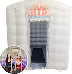 The Hot Yoga Dome   Portable, Lightweight & Easy Set Up Inflatable Hot Yoga Dome Home Yoga Studio   Personal Hot Yoga Equipment for Indoor & Outdoor   Yoga & Exercise at Home   Hot Air Bubble Tent