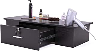 Black Salon Classic Wall Mount Styling Station Beauty Salon Spa Locking Cabinet