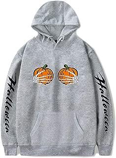 HebeTop Lantern Pumpkin Face Halloween Funny Sweatshirt Hoodie