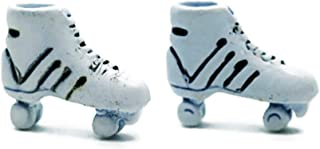 Vintage White Pastel Roller Skates Dollhouse Miniatures Supply Deco by Cool Price