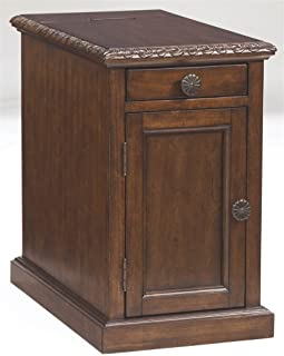 Signature Design by Ashley T127-553 Laflorn Collection Chairside End Table, Dark Brown