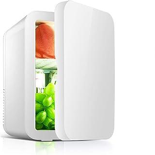 JTJxop Mini Frigo pour Chambre, 8L / 8 Canettes Réfrigérateur Portable et Refroidisseur et Réchaud Électrique, Réfrigérate...