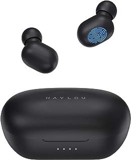 Auriculares inalámbricos con capacidad de batería de 800 mAh, Haylou GT1 Pro Bluetooth 5.0 con control táctil con total tiempo de reproducción de 26 horas, conexión rápida, IPX5 resistente al agua/(negro)