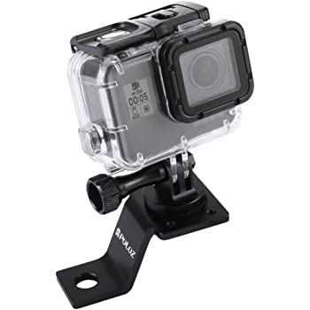 MEETBM ZIMO,Motorcycle Rearview Mirror CNC Aluminum Alloy Stent Fixed Bracket Holder for GoPro New Hero //HERO6 // 5//5 Session //4//3+ //3//2 //1 SJCAM Camera Black Color : Black Xiaomi Xiaoyi