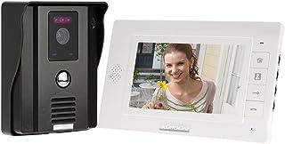 KKmoon Sonnette Vidéo Interphone,visiophone intercom avec 7 Pouces LCD Moniteur,Sonnette Visuelle de Porte avec 1pcs CCTV ...