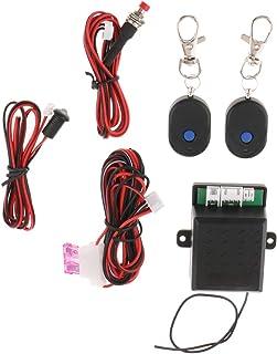 KESOTO ドアロック キーレス エントリーキット 12V ダミーセキュリティ ワイヤー/リモコンキー 安全