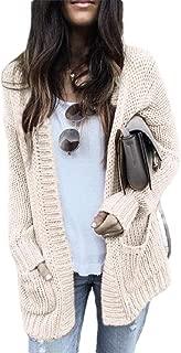 Women Sweater Cable Knit Cardigans Open Front Long Sleeve Outwear Coat