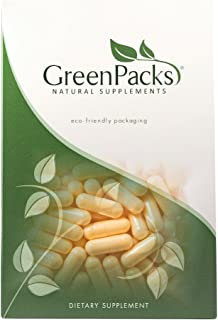 GreenPacks® Natural CoQ10 (High Absorption 60 mg) Supplement - 90 Capsules