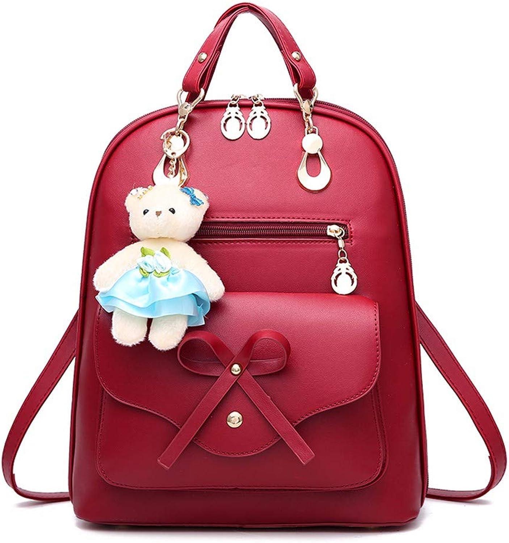 ERSANWU Rucksack-Frauentasche PU-Leder-Rucksackdamen-beiläufige Tasche B07Q9Q7NY8  Elegantes und robustes robustes robustes Menü a5b3b6