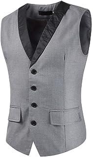 Mens Waistcoats Casual Formal Slim Fit Waistcoats Business Working Wedding All-Match Sleeveless Jackets Elegant Classic Ve...