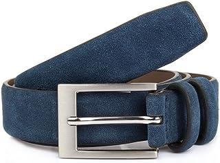 Dents Suede Leather Belt Brown