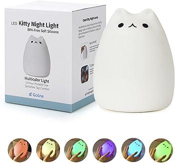 GoLine Cute Kitty LED Children Night Light Nursery Lamp