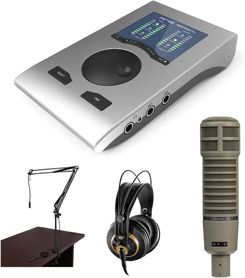 low-pricing RME Babyface Professional Podcast Kit Max 74% OFF Electro-Voice with RE20 Br