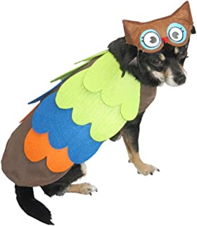 Walmart Owl Dog Costume Colorful Bird Pet Outfit with Hat