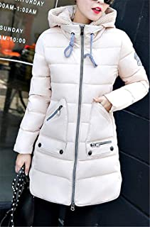Women's Winter Slim Middle Length Hooded Quilted Padded Warm Parka Down Jacket