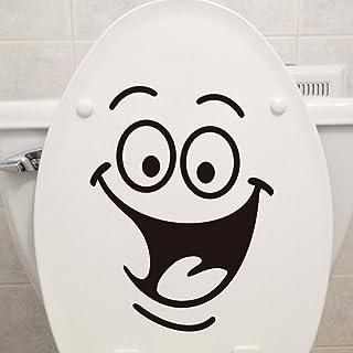 Creative DIY Home Decor Stickers Smile bathroom toilet stickers decorative wall stickers