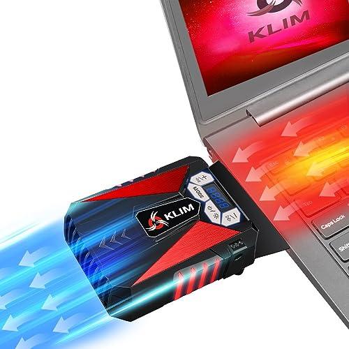 KLIM Cool – Refrigerador para Ordenador Portátil – Ventilador de Alto Rendimiento para Una Rápida Refrigeración
