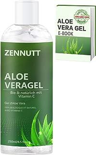 Gel Aloe vera250ml con E-Book gratuito Orgánico Puro Aloe Vera Gel de Crema HidratanteRefrescante Pieles Secas el Alivio...