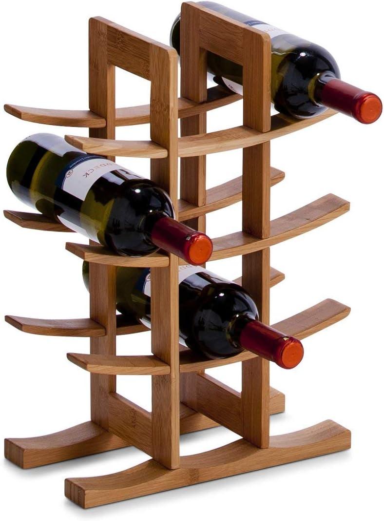 Botellero para 42 botellas de vino Madera clara No requiere montaje