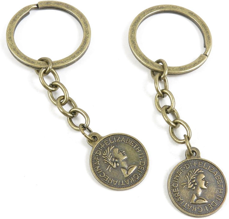 210 Pieces Fashion Jewelry Keyring Keychain Door Car Key Tag Ring Chain Supplier Supply Wholesale Bulk Lots J1FQ3 Elizabeth II Tag Signs