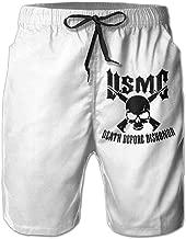 Citr Hunrr Mens Fashion Quick Dry Beach Short USMC Death Before Dishonor Casual Shorts