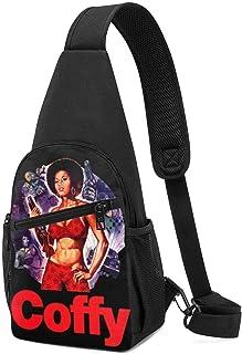 Hdadwy Pam Grier Hombres Mujeres Crossbody Sling Mochila Sling Bag Viaje Senderismo Bolsa De Pecho Mochila De Día Negro