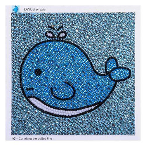 DIY-Gemälde, 5D-Diamant-Stickerei, Baby-Walt, zur Dekoration der Wand, Geschenk Indien, für Kinder, 15 x 15 cm