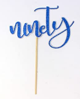 All About Details Ninety Cake Topper, 1pc, 90th birthday Multi