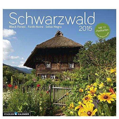 Schwarzwald 2015: Postkarten-Tischkalender