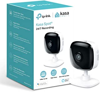TP-Link Kasa Smart Security Camera, Baby Monitor, Indoor CCTV, No Hub Required, Works with Alexa(Echo Spot/Show&Fire TV), ...
