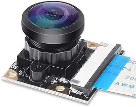 Dorhea Raspberry Pi 4 B Camera Webcam 222 FoV Fisheye Wide Angle Degree 5 Megapixel 1080p OV5647 Camera Video Module for Raspberry Pi Model 3 A/B/B+, Pi 2 and Raspberry Pi 3,3 B+