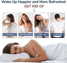 "YOZO Contour Cervical Orthopedic Memory Foam Pillow Memory Pillow, Memory Pillows for Sleeping, Memory Pillow for Neck Pain, Memory Pillow Cover - 19""x 11"" x 3.5"", White (White.)"