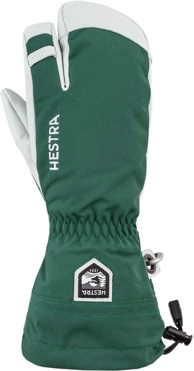 Men's Overseas parallel import regular item excellence Army Leather Heli Ski 7 - 3-Finger Glove BTLGREEN