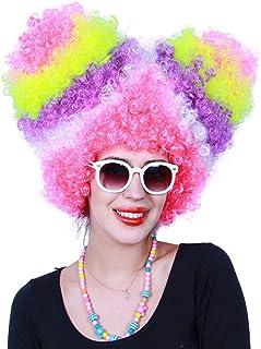 Payaso peluca de Navidad con espuma Payaso pelucas locas para la fiesta de cumpleaños de bromas