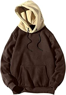 SANFASHION 2020 Newest Mens Hoodie Jumper Autumn Winter Spring Casual Long Sleeve Sweatshirt Solid Color Loose Fit Lightwe...