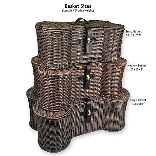 DII Bone Dry Small Wicker-Like Bone Shape Storage Basket, 17.75x11x7.5