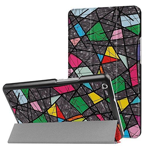 SportFun Huawei MediaPad M3 Lite 8 Hülle, PU Leder Schutzhülle Flip Case Tasche für Huawei MediaPad M3 Lite 8 mit Ständerfunktion Auto Schlaf/Wach (01)