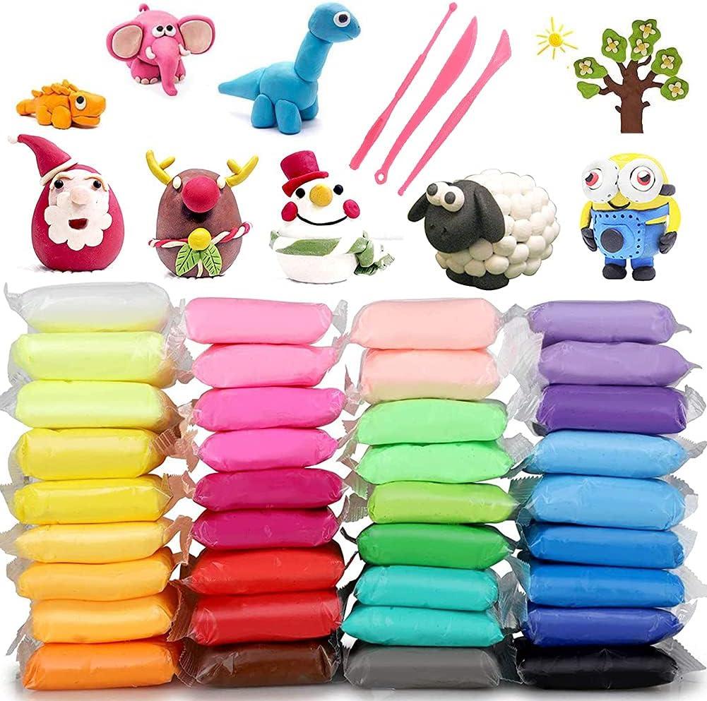 Fluffy Slime, BESTZY Stress Relief DIY, Juguetes para niños Adultos, Gelatina Pegajosa de Masilla Suave Elástica Metálica, Stress Relief DIY Toys for Kids Adults,36 Colors