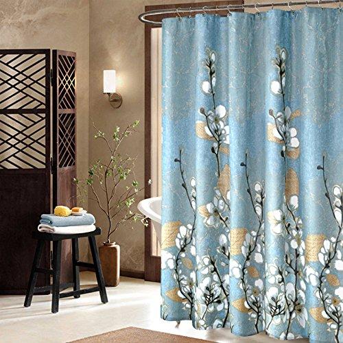 YROAR Badezimmer Duschvorhang, wasserdichte, gepolsterte Schimmel am Duschvorhang Duschvorhänge, abgeschnitten, 200-200cm