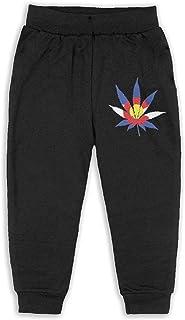 Easionerol Colorado Flag Marijuana Girls Long Sweatpants Jogger Trousers