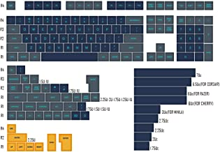 Domikey SA abs doubleshot keycap Set Atlantis SA Profile for mx stem Keyboard Poker 87 104 gh60 xd64 xd68 xd84 xd96 xd75 xd87 (SA Atlantis Set x1)