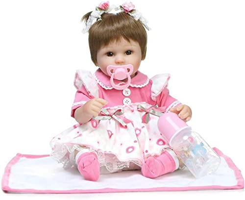 YAHAO   Simulation Doll Rebirth Doll Doux Anniversaire Cadeau Simulation Doux Doux Bébé Bébé Poupée Jouet