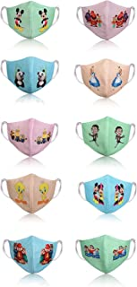 CHINTNAM Mask for Children Cotton Digital Printed Washable & Washable Kids Face Mask Reusable for Children Gift(Pack of 1...