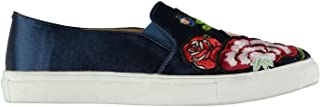 Fabric Rozzano Floral Slip On Shoes Womens Blue Athleisure Trainers Sneakers