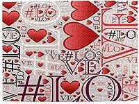 "TLMYDD 大人500ピースタイムズスクエアインテリジェンス解凍楽しいゲーム、愛の言葉と赤いハート、灰色の背景にハッシュタグのシンボル、完成したパズルサイズ20.5""x 15.1"" バレンタインデープレゼント"