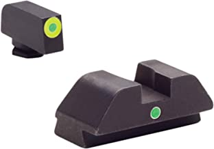 AmeriGlo Tritium I-Dot Green with Lumi Green Outline Sight Set for Glock