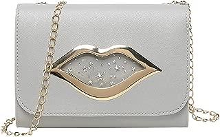 Aelidiya Women's Lip Transparent Messenger Bag Shoulder Purses Crossbody Bag