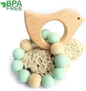 wooden bird beads
